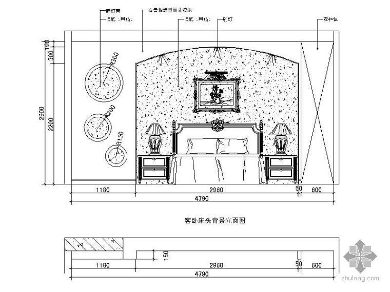 三款欧式卧室立面图
