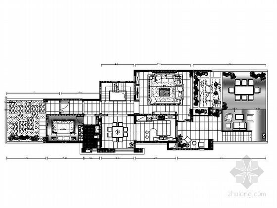 [西安]后现代简约别墅室内设计施工图(含效果图)