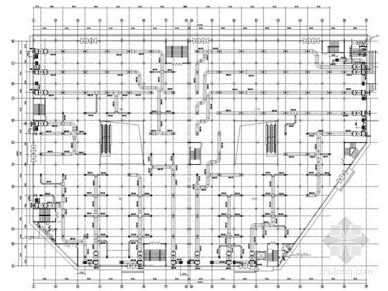 双层商业中心建筑空调系统设计施工图(含给排消防设计)