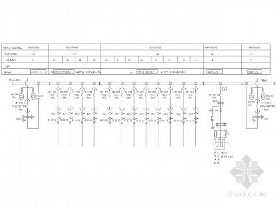 ups配电柜配线图资料下载-低压配电柜二次控制原理图