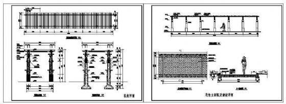 某小区花架施工详图-4