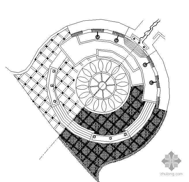 [分享]广场设计铺装cad平面图资料下载