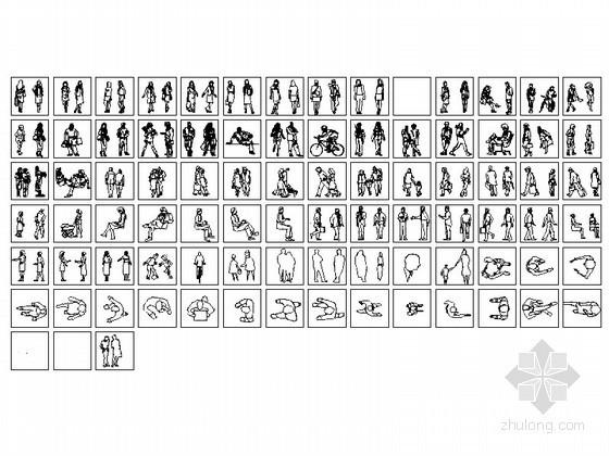 整套人物CAD图块