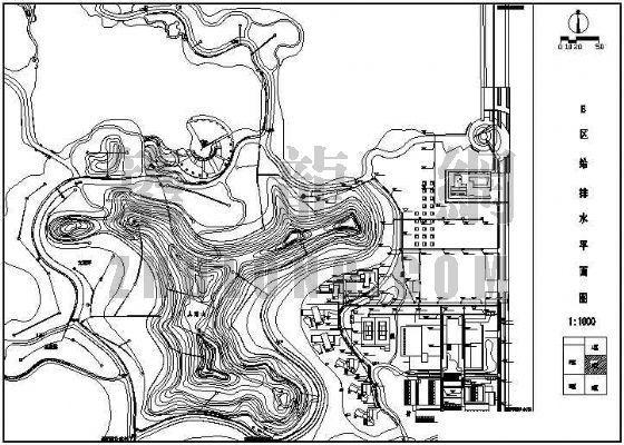 某公园基础设施系统配置给排水设计图