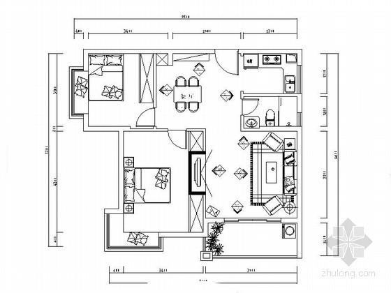 简易两居室装修图