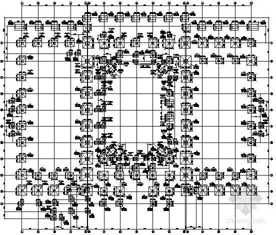 [浙江]框架结构体育中心结构施工图(屋面网架)
