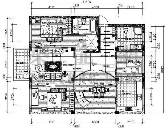 三室二厅两卫装修图