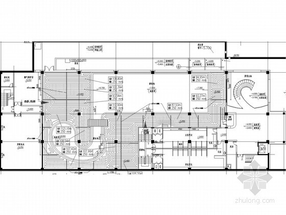 展馆展厅地暖采暖及通风空调系统施工图