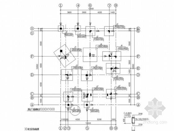 [广东]二层框架结构别墅结构施工图(含建施、附结算)