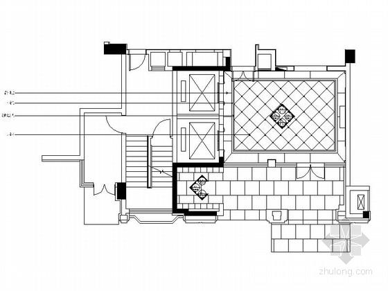 [浙江]酒店式公寓样板房电梯厅装修设计施工图