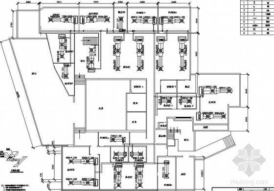 某办公室中央空调平面图
