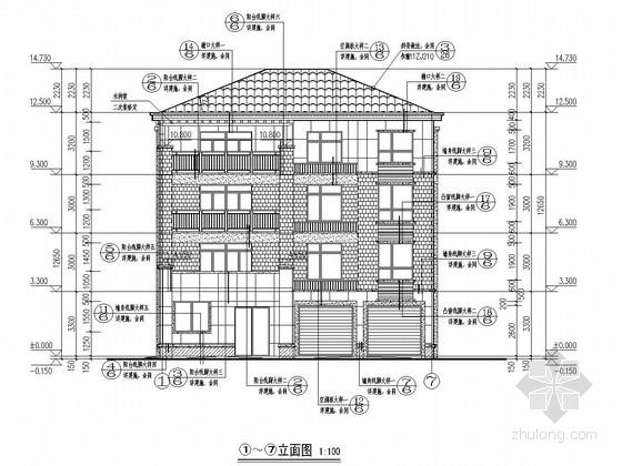 [私人住宅]四层砖混结构施工图(含建筑图)