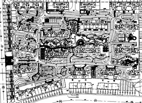 [安徽]高档居住小区园林景观工程园建施工图全套