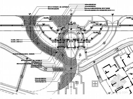 小区入口景观设计施工图