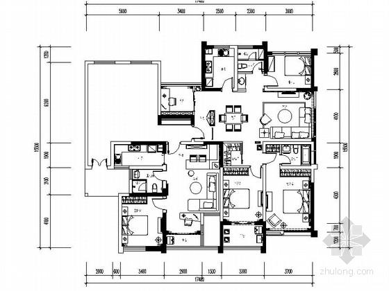 [常州]开发区核心现代四居室样板间装修图(含方案)