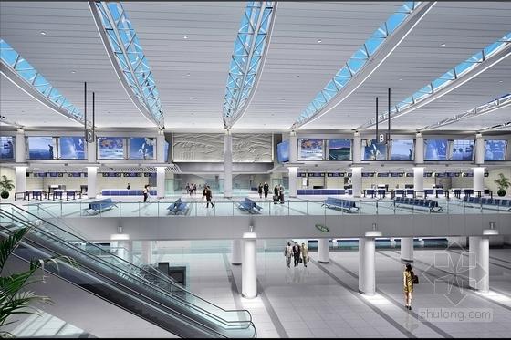 机场办票厅效果图