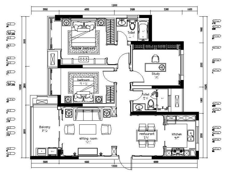 [苏州]全套售楼处+样板房2套施工图+概念方案(含效果图)