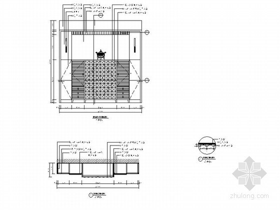 现代家居橱柜立面详图