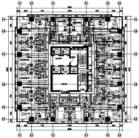 [重庆]210米综合大厦全套弱电施工图纸151张