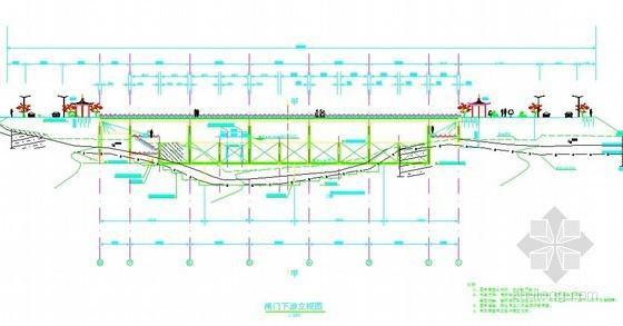 河道自控翻板闸门设计图