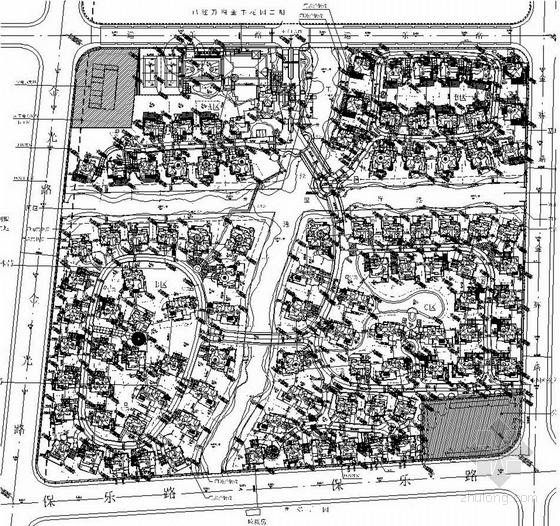 上海地产项目总平面图