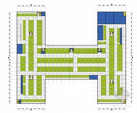 CBD地块院落式行政办公楼建筑平面图