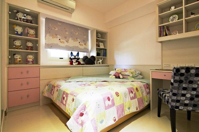 115平方米现代简约儿童房背景墙装修效果图_16