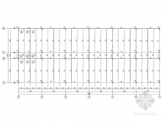 4层办公楼钢框架结构施工图(楼承板)