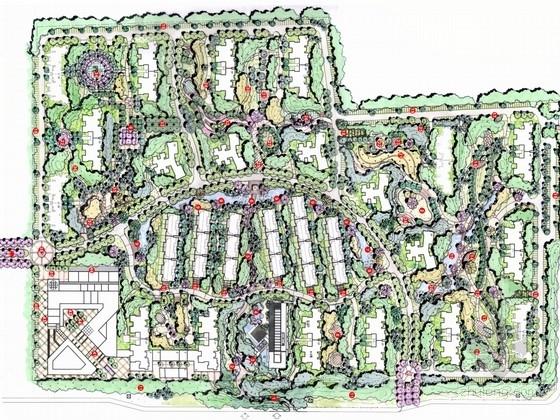 [西安]中高档现代住宅区景观规划设计方案