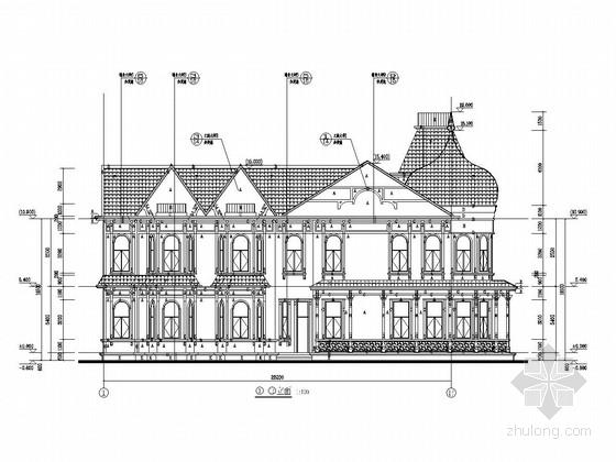 俄罗斯风情酒店结构施工图(含建筑图)
