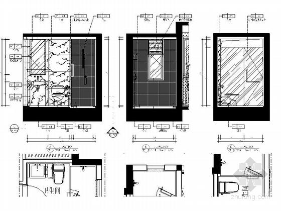 [惠州]现代风格温馨两居室样板间室内装修图(含效果) 立面