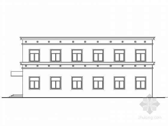 [安徽]两层简洁高级中学食堂建筑施工图