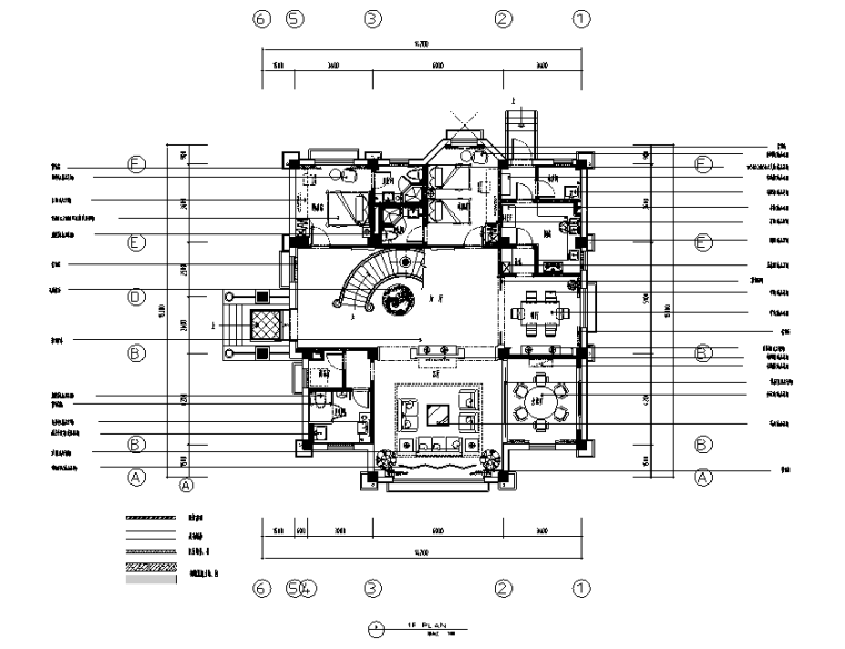 现代风格别墅总统套房设计施工图(附效果图)