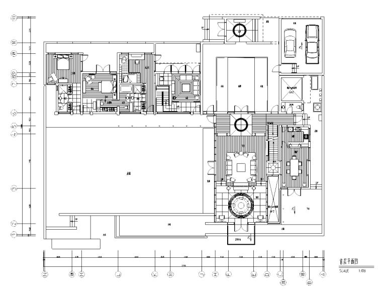 [上海]九间堂别墅装修施工图