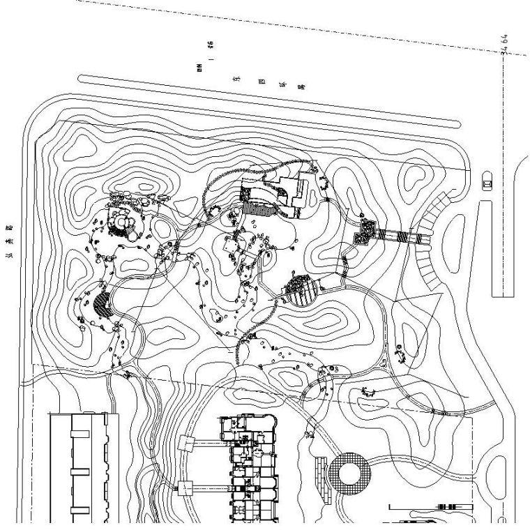 [广东]上水文园公园电气全套施工图设计(水电CAD)