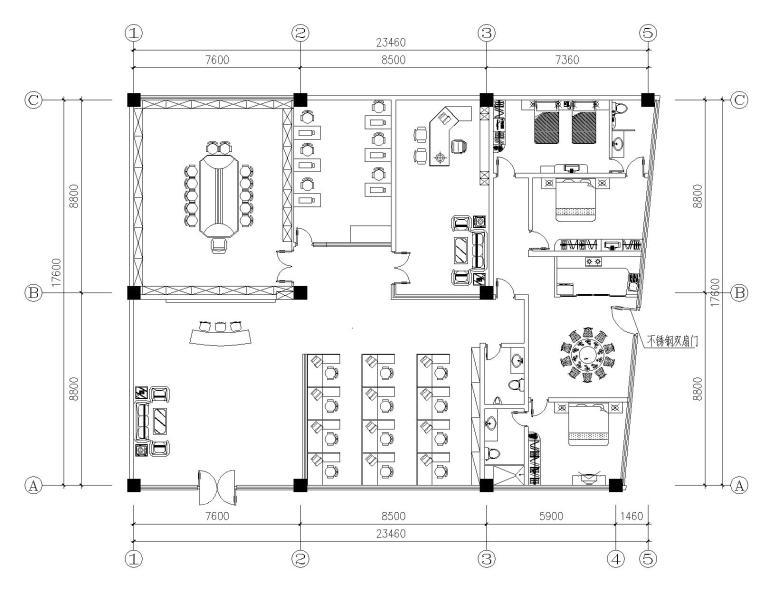 某办公室精装饰装修全套CAD施工图纸