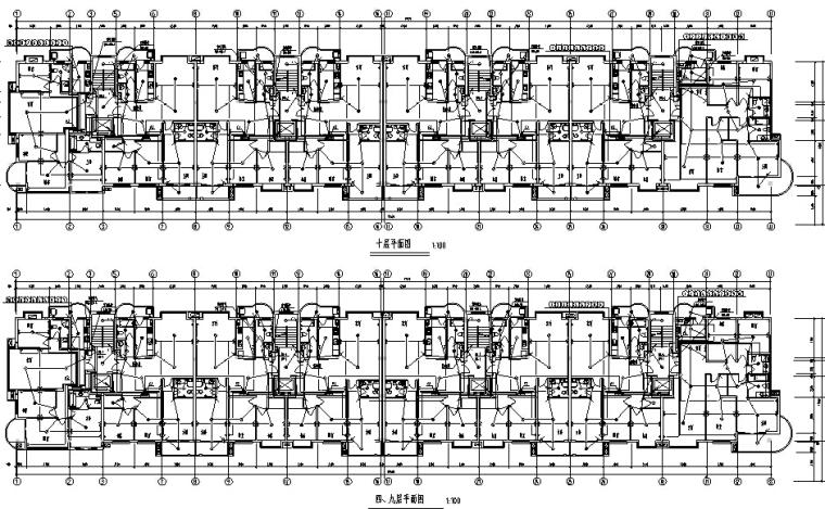 某11层商住楼电气系统施工图