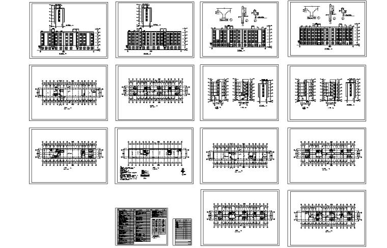 5套现代多层宾馆酒店建筑设计施工图CAD-多层宾馆酒店建筑设计施工图