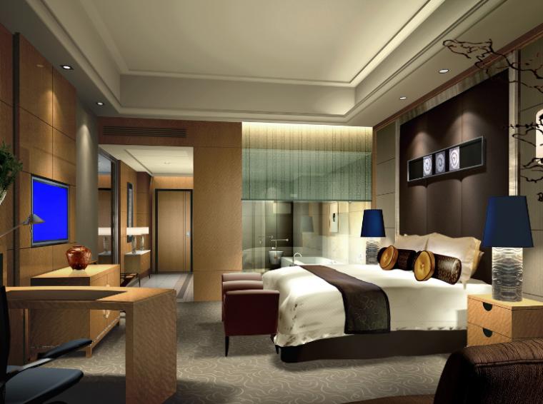23000平米酒店空间设计施工图(附效果图+材料表)_6