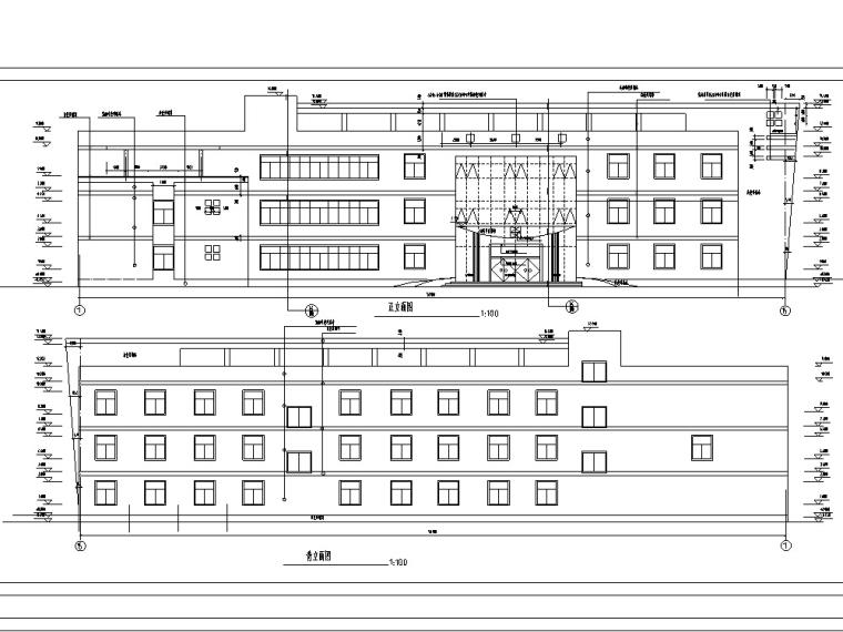 现代多层宾馆酒店建筑设计方案施工图CAD