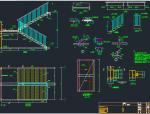 钢结构直跑楼梯节点构造详建筑设计图