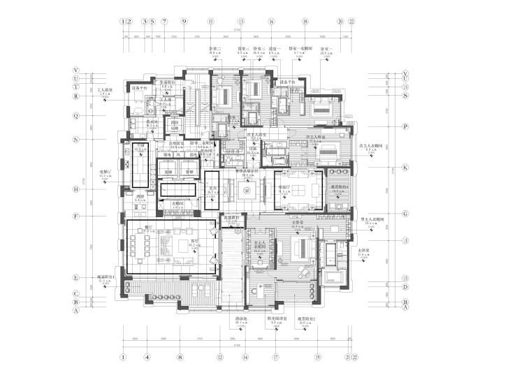 新力洲悦600平方米示范样板间平面图(19)