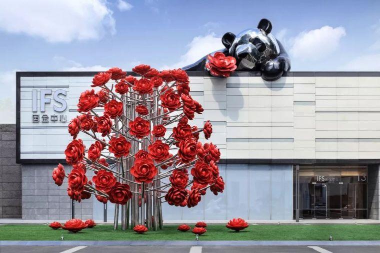 IFS国金中心资料下载-超有创意的景观雕塑