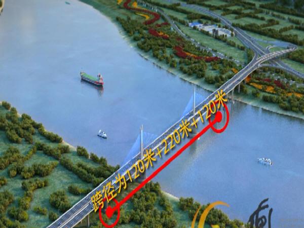 黄河大桥结构  单幅桥面宽度  单喇叭互通立交引桥  地层卵石层图片