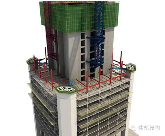 建筑结构丨超高层建筑钢结构施工流程三维效果图_25