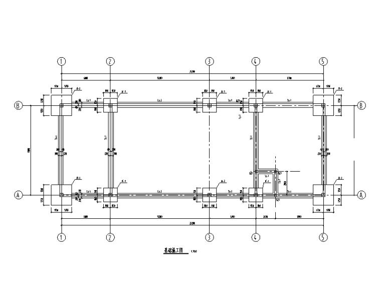 [重庆]框架结构门卫及水泵房施工图(建筑结构,2015)