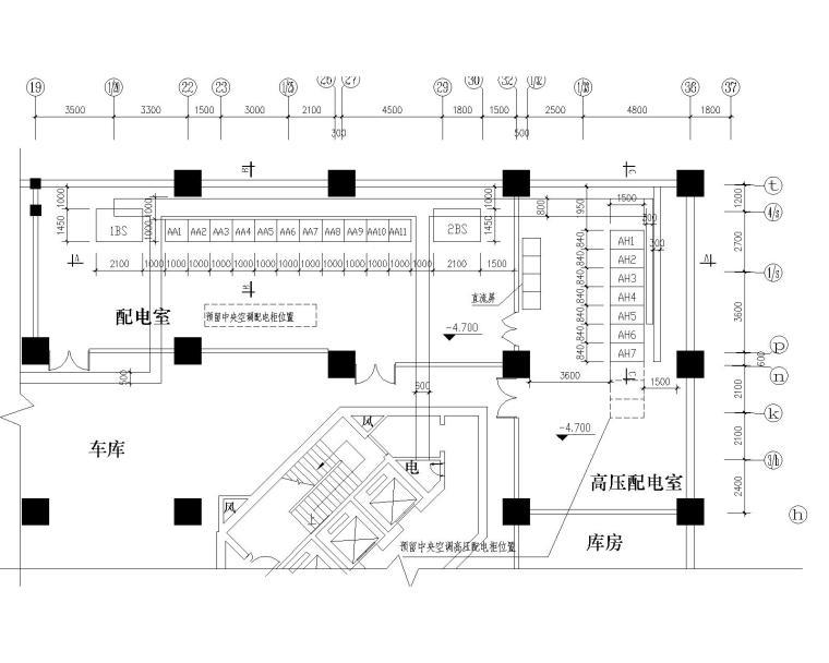 30层商住楼高低压配电系统图