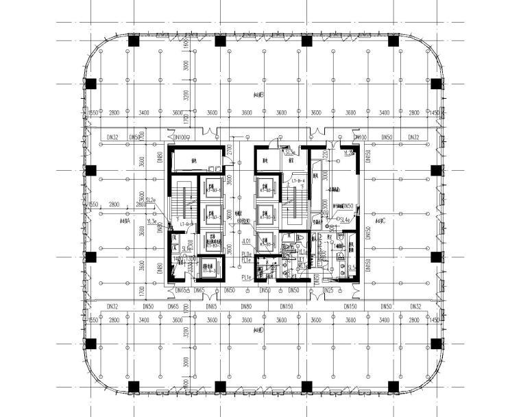 [上海]某商业办公综合楼给排水施工图(含消防、给排水平面及系统图纸等)