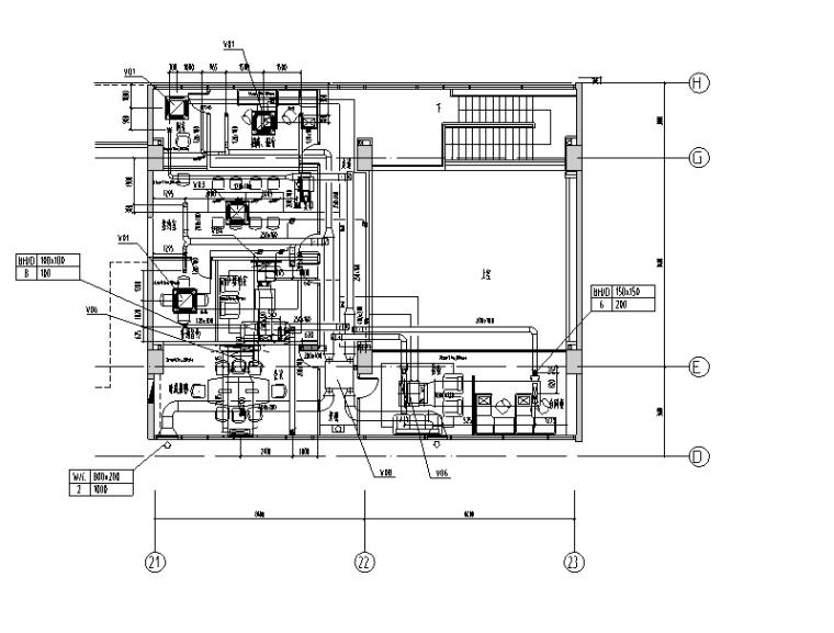 上海国际设计中心暖通系统竣工图(CAD,45张)