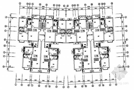东莞某四层住宅群给排水图纸